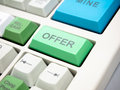 Offer button Royalty Free Stock Photo