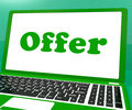 Offer computer shows promotion discounts and reduction showing Royalty Free Stock Photography