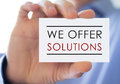 We offer solutions Royalty Free Stock Photo