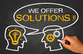 We offer solutions on chalkboard Royalty Free Stock Image