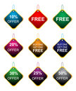 Offer tags Stock Image