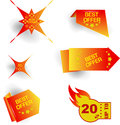 Offer various special tags is on white background Royalty Free Stock Image