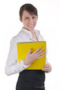 Office assistant hoding file folder Stock Photography