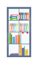 Office Bookcase with Folders Royalty Free Stock Photo