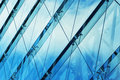 Office building abstract detail blue of modern s glass facade Stock Photography