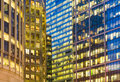Office building background in Canary Wharf, London Royalty Free Stock Photo