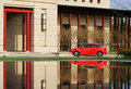 Office building with car red Royalty Free Stock Photo
