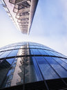 Office building modern tower unusual angle Stock Image
