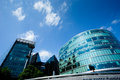 Office building and reflection in london england background summer Royalty Free Stock Photos