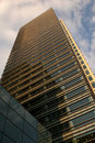 Office building turned gold Royalty Free Stock Photo