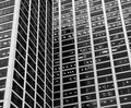 Office Building and Windows, B&W Stock Photography