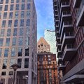 Office buildings in boston Stock Images
