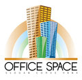 Office buildings real estate logo vector template of an building construction or business Royalty Free Stock Photography