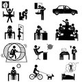 Office business sticks icons Royalty Free Stock Photo