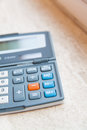 Office calculator digital Stock Photography