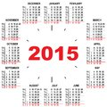 Office calendar hours illustration in vector format Royalty Free Stock Photography