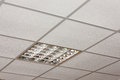 Office ceiling lamp close-up diagonal view Royalty Free Stock Photography
