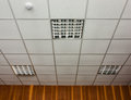 Office ceiling with lamps Stock Images