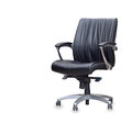 The office chair from black leather isolated Royalty Free Stock Photography