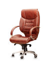 Office chair from brown leather the isolated Royalty Free Stock Photography