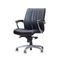 Office chair from leather isolated the black Royalty Free Stock Photo