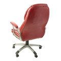 Office chair over isolated white background Royalty Free Stock Photo