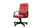 The office chair from red leather isolated Stock Images