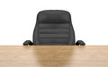 Office chair at table isolated with clipping path Royalty Free Stock Photo
