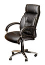 Office chair on white with clipping path Stock Images