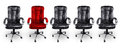 Office chairs in black and red stand out concept Royalty Free Stock Images