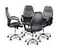 Office chairs having a meeting Royalty Free Stock Photo