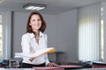 Office clerk delivers documents Stock Photography