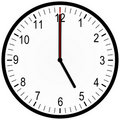 Office clock 5 o'clock Royalty Free Stock Images