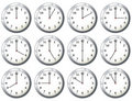 Office clock all times Royalty Free Stock Images