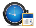 Office clock and calendar Stock Images