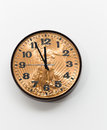 Office clock with gold coin as face for concept Stock Image