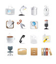 Office computer icons web set Stock Images