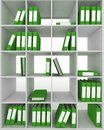 Office cupboard with different folders d image Stock Photo