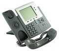 Office digital telephone set, off-hook Royalty Free Stock Photo