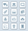 Office electronics icons | TECH series Stock Images