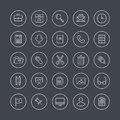 Office equipment flat line icons Royalty Free Stock Images