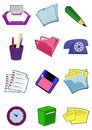 Office equipment and stationery in  Stock Photography
