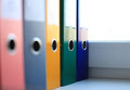 Office folders the image of colorful file Stock Images
