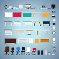 Office Furniture Set Royalty Free Stock Photo