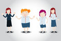 Office girl characters vector eps Royalty Free Stock Image
