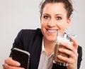 Office Girl Enjoying Her Break Stock Photography