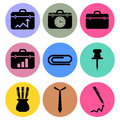 Office icon designs a set of for graphic element use Stock Photo