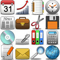 Office icon set illustration featuring a colored isolated on white background eps file is available Royalty Free Stock Photo