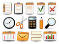 Office Icon Set One Royalty Free Stock Photo