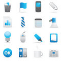 Office Icons | Indigo Series 02 Stock Image